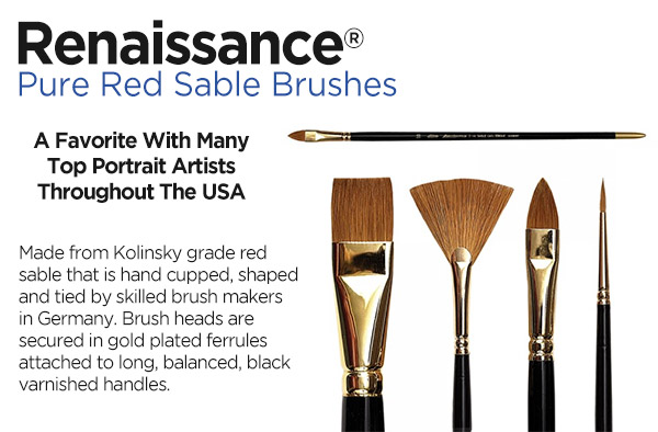 Shop Silver Brush Renaissance Red Sable Brushes
