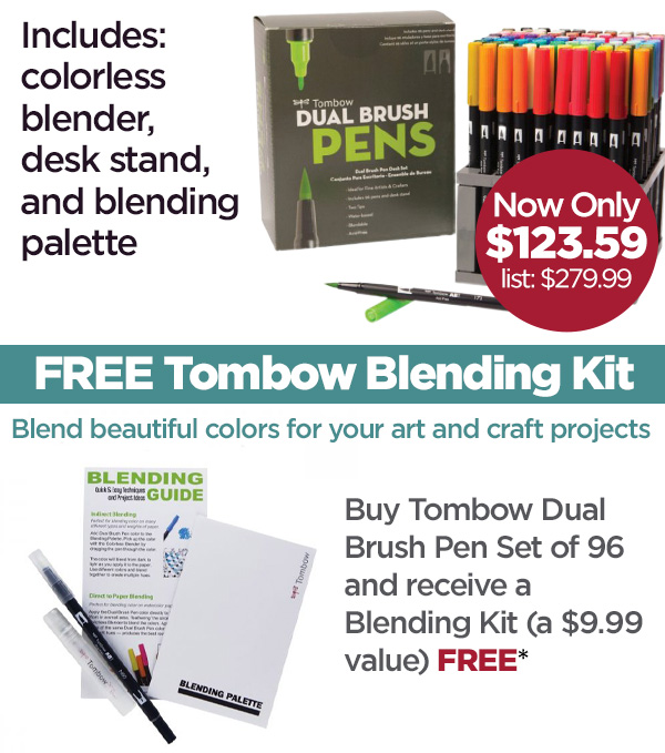 View dual brush pen set offer