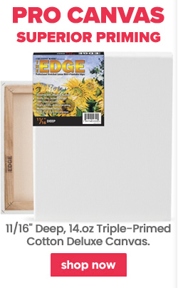 Edge professional stretched canvas for artists