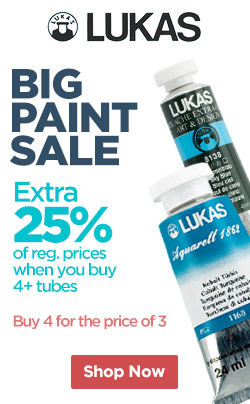 Extra 25% OFF Lukas Watercolor Paints and Design Gouache