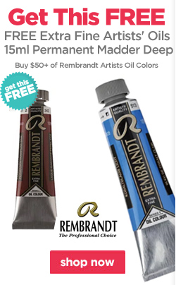Buy $50+ of Rembrandt Artists Oil Colors and receive a 15ml Permanent Madder Deep FREE!