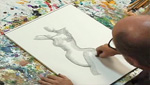 Flow Drawing with Conte Crayon