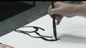 Using Big Shapes In a Figure Drawing With Sumi-e Brushes