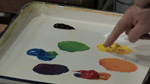 Basic Palette Setup-Mixing With Primary Colors in Acrylic