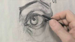 Simplifying the Eye in Charcoal Drawing
