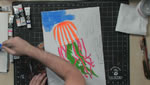 Part 3 Blacklight Jellyfish Artwork in Acryl Gouache
