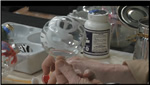 How to Paint Blue Christmas Ornament Balls