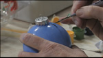 How to Paint Blue Christmas Ornament Balls Part 2