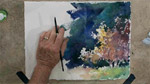 Autumn Trees in Watercolors