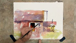 Colorful Buildings in Watercolors