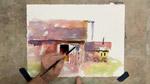 Colorful Buildings in Watercolors