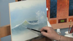 Crashing Ocean Waves in Oils
