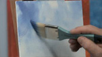 Simple Blue Sky in Oils