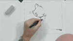 How To Draw and Sketch a Kitten With A Brush Tip Pen