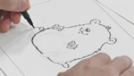 How To Sketch and Draw a Hamster Using a Brush Tip Pen