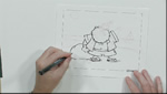 How To Sketch and Draw Santa at the Beach in Pen Using a Brush Tip Pen