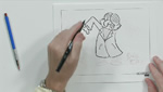 How To Sketch and Draw an Evil Scientist Using Brush Tip Pens