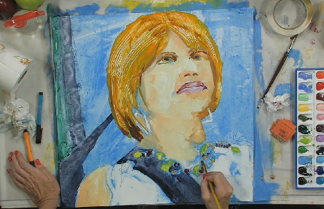 How to Paint a Whimsical Watercolor Self-Portrait, Part 3