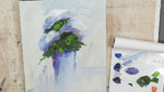 How to Paint Abstract Flowers using Water Soluble Oils: Part 3
