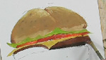 How To Paint A Delicious Hamburger Using Lukas Berlin Oils!