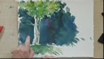 Tree Branches With an Xacto Knife in Watercolors