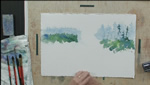 Creating a More Interesting Tree Line in Watercolors