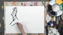 How To Use A Sumi-e Simplified Line In Figure Drawing