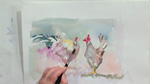 Painting a Chicken in Watercolors