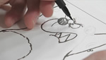 How To Sketch and Draw an Angry Bear Using Brush Tip Pens