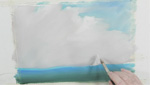 How To Paint Clouds Using Lukas Watercolors