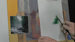 How To Paint an Early Morning Mountain Brook in Acrylics and an Artboard