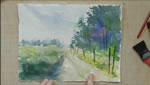Dirt Road in Watercolors