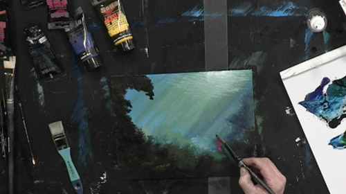 Creating Underwater Contrast in Acrylics