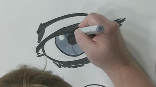 How To Draw Eyes Using Copic Markers