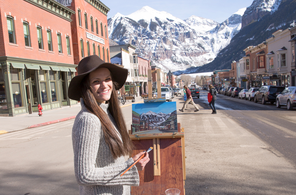 Plein Air Painting Tutorial -How to Paint Outside in Telluride, Colorado by Lisa Kowieski