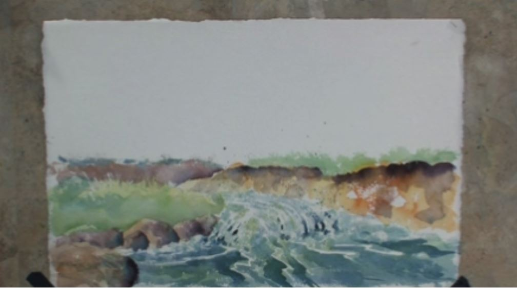 Moving Water in Watercolors