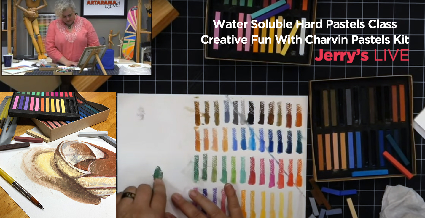 Water Soluble Hard Pastels Class - Creative Fun With Charvin Pastels Kit