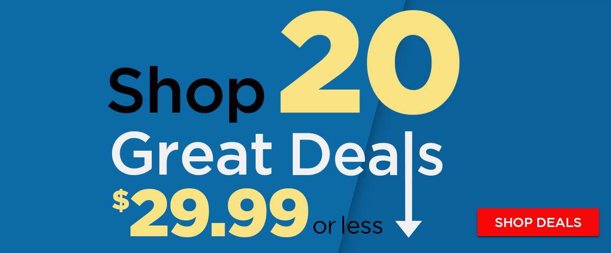Shop 20 Great Deals for $29.99 and Under