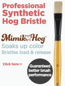 Synthetic hog bristle brushes