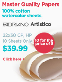 Fabriano Artistico Watercolor Paper On Sale