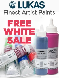 Lukas Paints on sale + Free White