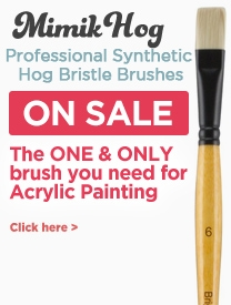 Mimik Hog Artist Acrylic Painting Brushes