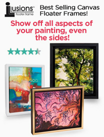 Canvas Floater Frames- Ilussions Frames for Canvas