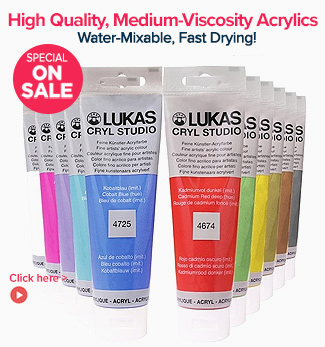 High Quality, Medium-Viscosity LUKAS Cryl Studio Acrylic Paints