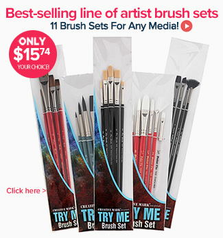 Professional Artist Brush Sets for any Media