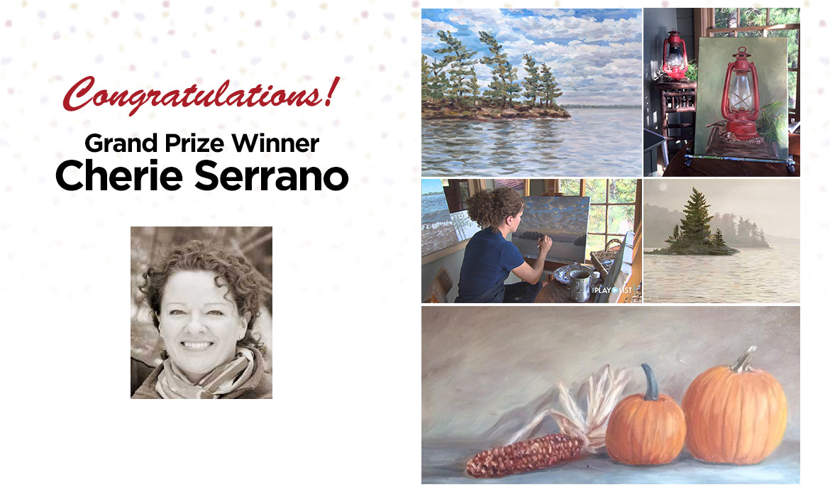 2017 Art of the carolinas Grand Prize Winner Cherie Serrano