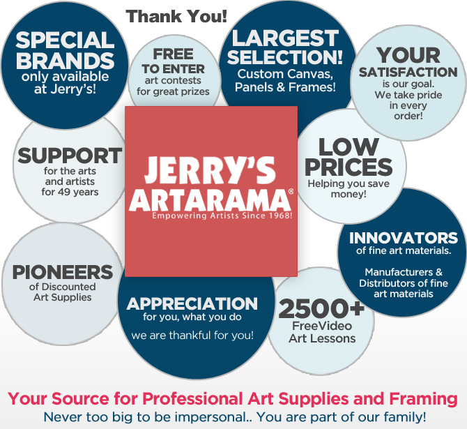 About Jerry's Artarama Art Supplier