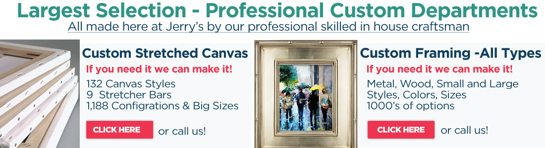 largest selection of custom frames and canvas