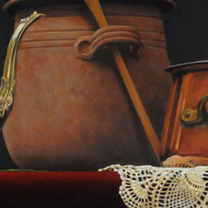 2nd Place: 'Still Life with Pot' by Marcel Franquelin of Waverly Hall, GA