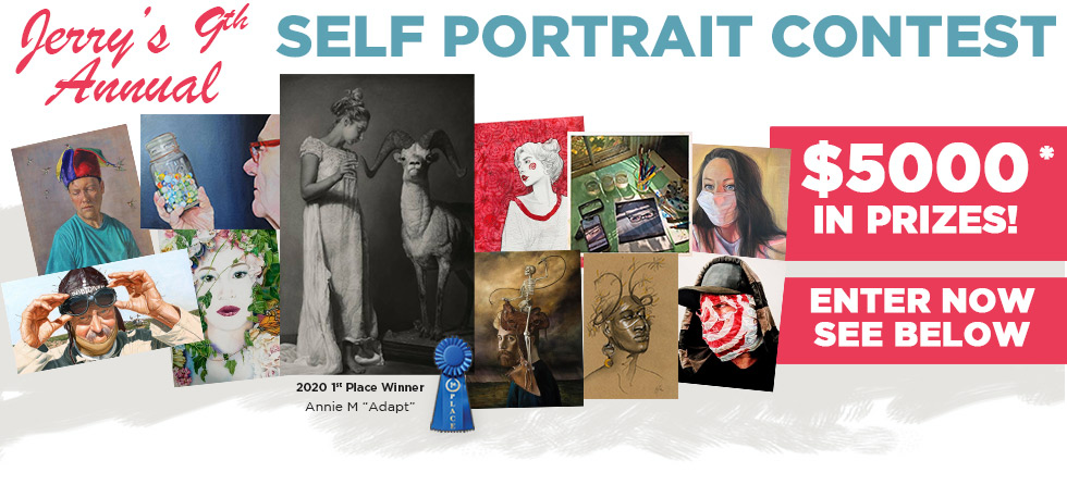 2021 9th Annual Jerrys Artarama Self Portrait Contest